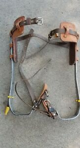 Buckingham Tree Pole Climbing Spikes Gaffs 910 l r Pads And Straps Included