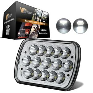 1 Piece 7x6 Led Headlight Sealed Beam White Hid Head Lamp For Super Duty