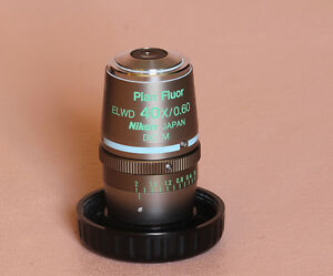 Nikon Plan Fluor Elwd 40x Dicm Ph2 Dm Microscope Objective