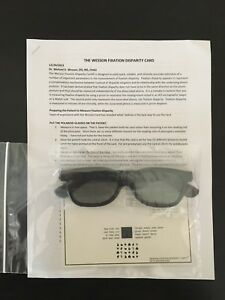 New Wesson Fixation Disparity Card With Glasses Optometry Optical