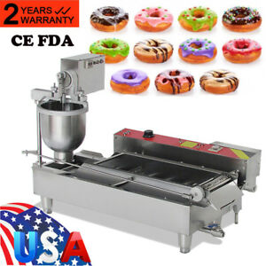 Commercial Automatic Donut Maker Making Machine Wide Oil Tank 3 Sets Free Mold A