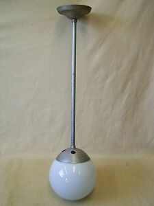 Beautiful Old Ball Art Deco Hanging Lamp Bauhaus Wagenfeld