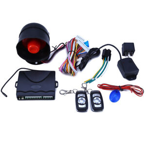 1 Way Auto Car Alarm Security System Keyless Entry Two 4 Button Remote Universal