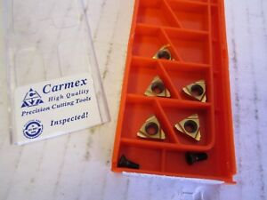 Lot Of 5 Carmex Precision Tool Carbide Inserts 11 Ir 0 6 Iso Mxc New