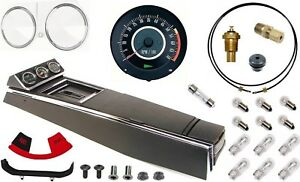 67 Camaro Tach Console W gauges Conversion Kit W pg 120 Mph 5 5 7k Tach