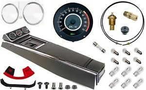67 Camaro Tach Console W gauges Conversion Kit W 4 Spd 120 Mph 5 7k Tach