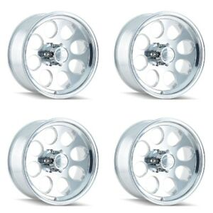Set 4 18 Ion 171 Polished Wheels 18x9 5x5 0mm Jeep Chevy Gmc 5 Lug Truck Rims