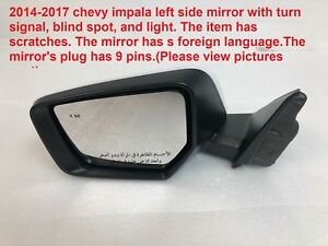 2014 2017 Chevy Impala Left Side Mirror With Turn Signal And Blind Spot 84124260