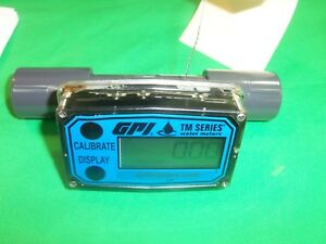 Gpi Tm050 n Tm Series Water Meter 1 10 Gpm Pvc 1 2 Fnpt Fitting W Lcd Display