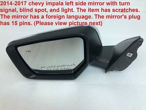 2014 2017 Chevy Impala Left Side Mirror With Turn Signal And Blind Spot 84269293
