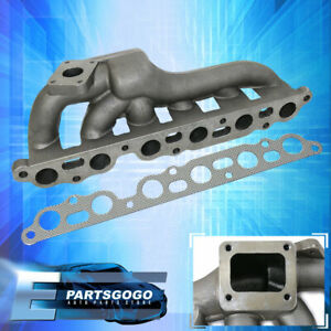 For 1986 1992 Mk3 Toyota Supra Ma70 7mgte Cast Iron T4 Turbo Exhaust Manifold