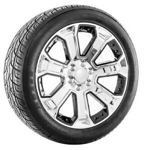 22 Chrome With Black Inserts Cadillac Escalade Wheels And Tires