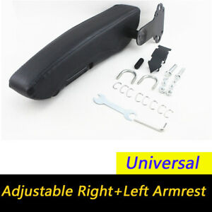 Pu Leather Right left Armrest Console Arm Rest For Truck Minivan Trailer