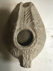 Ancient Holy Land Terra Cotta Oil Lamp From Hundred Ad With Great Design