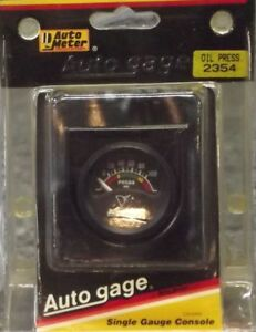 1 1 2 Inch Electrical Oil Pressure Gauge Kit Autogage By Autometer 2354