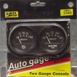 2 Inch Mechanical Dual Oil Press Water Temp Gauge Kit Autogage By Autometer 2345