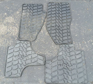 2008 2012 Jeep Liberty Floor Mats Set Of Four Front And Back Black Rubber