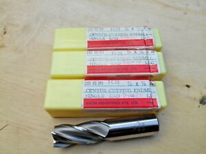 Nachi 7 8 X 7 8 4 Flt Hss End Mills Lot Of 3