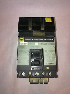 Square D Fc34100 Circuit Breaker 100 Amp 480 Volts Series 3