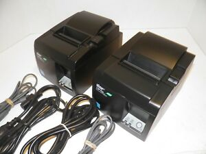 Lot Of 2 Star Tsp100ii Thermal Pos Receipt Printer Usb With Power Cord 143iiu
