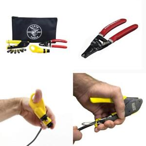 Klein Coaxial Cable Installation Kit Cutting Pliers Steel Electrical Tools New