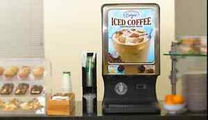 Commercial Iced Coffee Maker 2 Flavor Refrigerated Beverage Dispenser Bunn Fetco