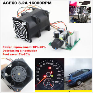Diy Electric Turbine Supercharger Boost Intake Fan Car Turbo Ace60 3 2a Dc12v