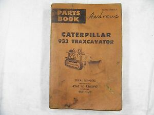 Cat Caterpillar 933a Parts Manual Book 42a1 5917