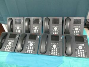 Lot Of 8 Avaya 9650c Office Ip Phones Tested W Handsets Stands
