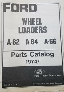 Ford A 62 A 64 A 66 Parts Catalog