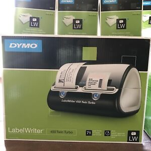 Dymo Labelwriter 450 Twin Turbo Label Thermal Printer With 7 Extra Refill Rolls