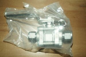 Swagelok 3 piece 60 Series Ball Valve 1 2 In Tube O d ss 63ts8 jl