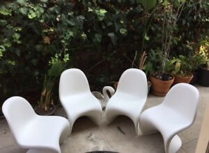4 Authentic Vitra Panton Chairs In White Set Of 4 Clean Good Condition