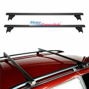 2007 2010 For Jeep Compass Black Alloy Crossbar Roof Rack Bars Luggage Carrier