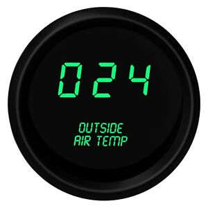 Intellitronix M9123g Led Digital Outside Air Temperature Gauge Green