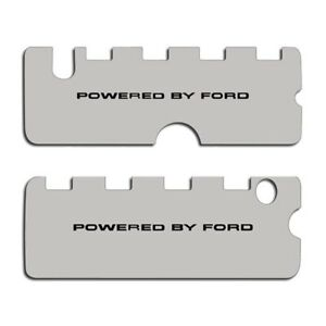 For Ford Mustang 11 13 Acc 273046 B Brushed Valve Cover W Powered By Ford Logo