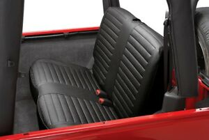 For Jeep Wrangler 1997 2002 Bestop 29221 15 2nd Row Black Denim Seat Covers