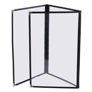 30pcs Menu Cover 8 5x11 6 View Triple Fold Trim Cafe Restaurant Hotel Black