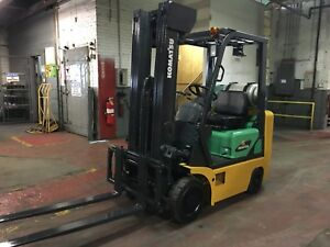 Komatsu 3000 Lb Forklift With Side Shift And Triple Mast