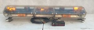 Code 3 Mx 7000 Amber 47 Light Bar With Arrowstik Clean Tested Working 5