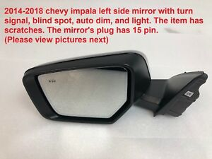 2014 2018 Chevy Impala Left Side Mirror With Turn Signal And Blind Spot 84269267