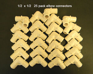 25 Poly Plastic 1 2 Elbow For Pex