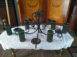 Gothic Iron Ceiling Light Lamp Fixture Vintage Chandelier Shades Rare