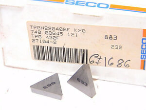 New Surplus 10pcs Seco Tpg 432f Grade 883 Carbide Inserts