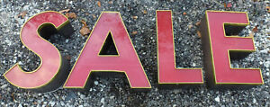 Letters S A L E Red 18 Lighted Outdoor Sign Big Large Building Sale Red Letter