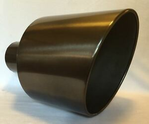 5 Inlet 12 Outlet 18 Long Black Chrome Diesel Exhaust Tip Ford Powerstroke