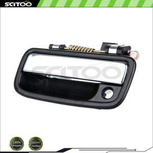 For 95 04 Toyota Tacoma Front Left Driver Exterior Door Handle Chrome Black