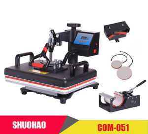 Cheap 30 38cm 5 In 1 Combo Heat Press Printer Sublimation Machine Heat Press New