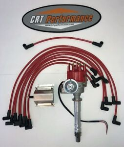 Bb Chevy Bbc Small Cap H e i Hei Distributor Kit W 60k E core Coil Wires Over
