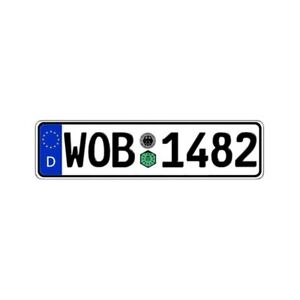 Germany Wolfsburg Custom Authentic Eec Europlate License Plate